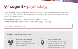 Cogent Psychology   Cogent OA